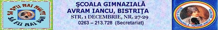 "Școala Gimnazială ""AVRAM IANCU"", Bistrița"